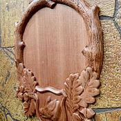 "Картины и панно handmade. Livemaster - original item Copy of Carved wood icon ""St. Sergius of Radonezh"". Handmade."