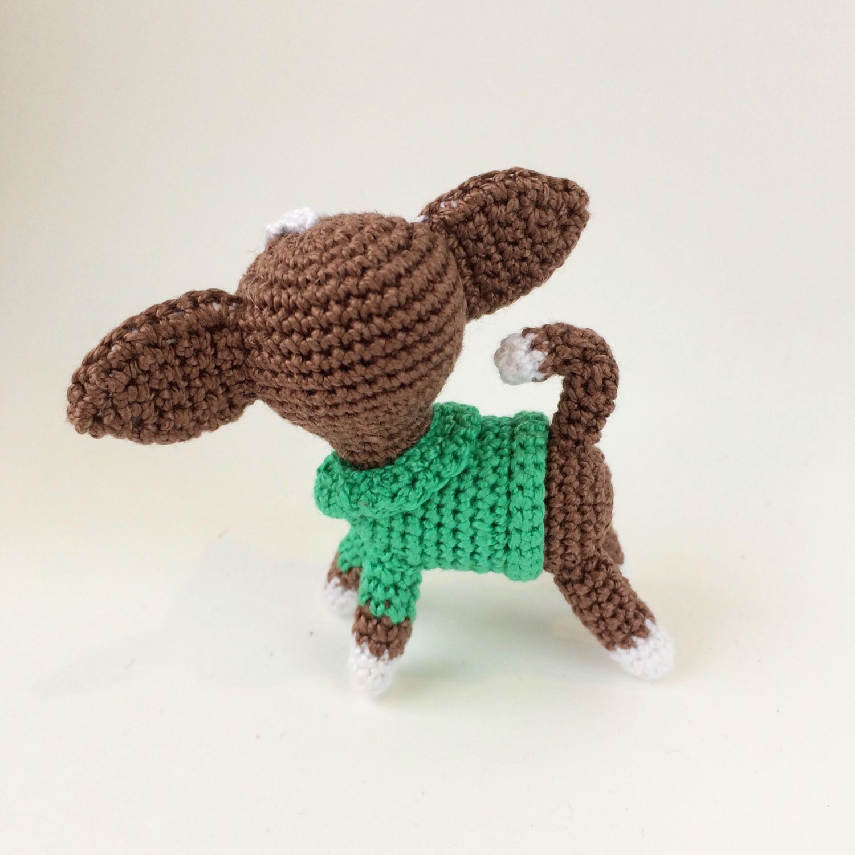 Амигуруми. Вязание крючком игрушки собачки в стиле амигуруми со схемами 58
