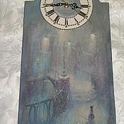 Часы ручной работы. Ярмарка Мастеров - ручная работа Часы настенные. часы на стену. часы для дома. Метель. Handmade.