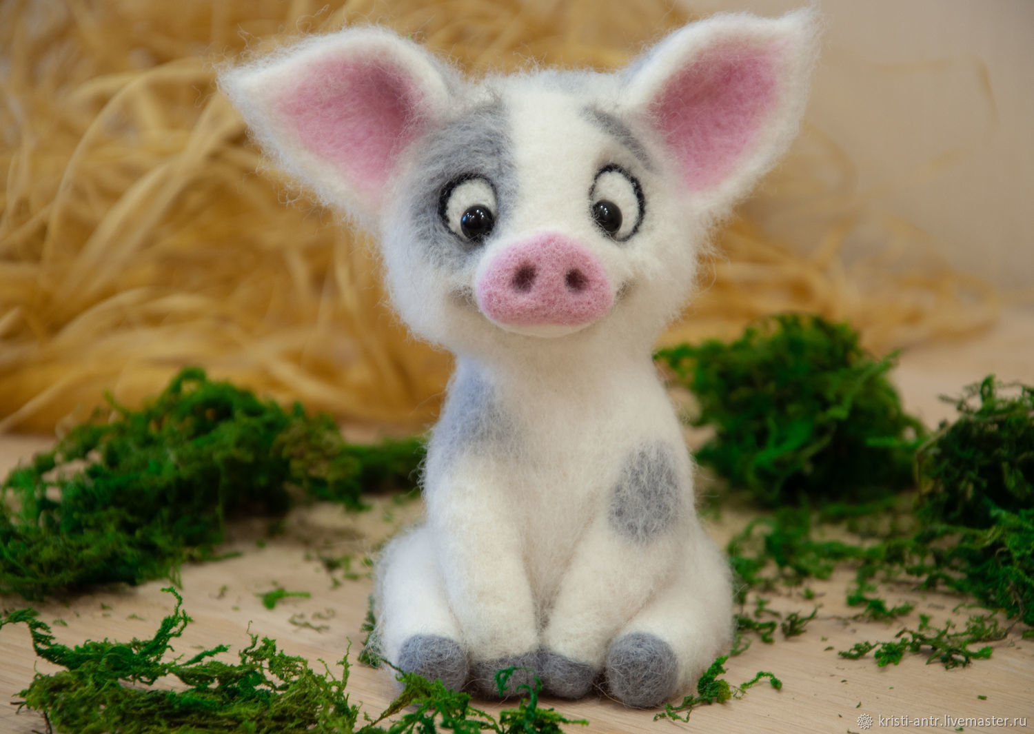 Felted toy Pig, Felted Toy, Arkhangelsk,  Фото №1