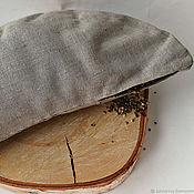 Для дома и интерьера handmade. Livemaster - original item Cushion Crescent filler from the husks of the hemp seeds. Handmade.