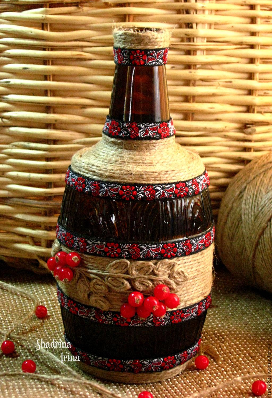 Декоративная бутылочка Ветка рябины – купить в интернет ...