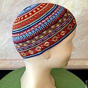 Джемперы ручной работы. Ярмарка Мастеров - ручная работа Кармелитка шапочка из хлопковых ниток, вязанная крючком. Handmade.