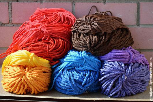 Текстиль, ковры ручной работы. Ярмарка Мастеров - ручная работа. Купить Шнур полиэфирный. Handmade. Комбинированный, лента
