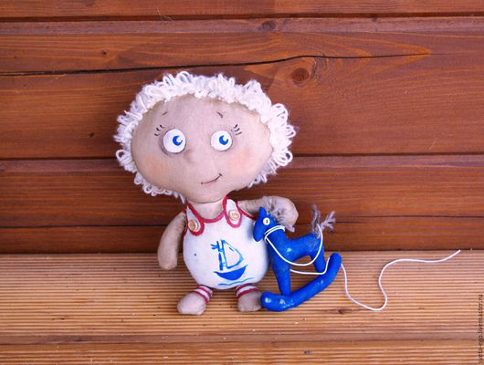 Коллекционные куклы ручной работы. Ярмарка Мастеров - ручная работа. Купить Авторская интерьерная кукла Павлуша. Handmade.