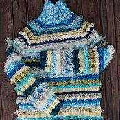 Одежда handmade. Livemaster - original item Womens knitted sweater Azure. Wool women sweater. Handmade.