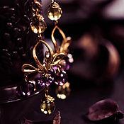 """Украшения ручной работы. Ярмарка Мастеров - ручная работа Серьги """"Королевские"""". Handmade."""
