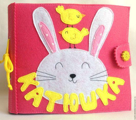 Развивающие игрушки ручной работы. Ярмарка Мастеров - ручная работа. Купить Развивающая книжка из фетра. Именная. Handmade. Комбинированный, развитие