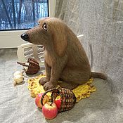 Войлочная игрушка ручной работы. Ярмарка Мастеров - ручная работа Тузик. Handmade.
