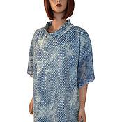 Одежда handmade. Livemaster - original item Elegant blue dress made of English sewing