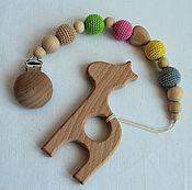 "Teethers, rattles handmade. Livemaster - original item Teething toy. The teether. Kingarturo "" Giraffe "".. Handmade."
