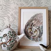 Картины и панно handmade. Livemaster - original item Pictures: Ushanochka. Handmade.