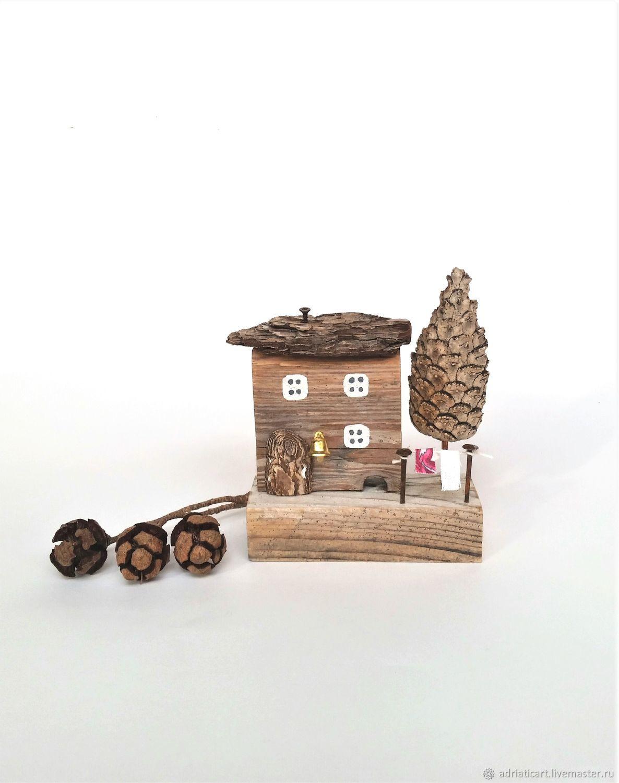 Домик под елочкой дрифтвуд На лесной опушке 13 см, Домики, Москва,  Фото №1