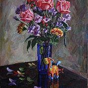 Картины и панно ручной работы. Ярмарка Мастеров - ручная работа Цветы для мамы в наличии 45х60. Handmade.