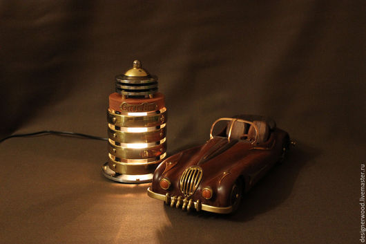 Освещение ручной работы. Ярмарка Мастеров - ручная работа. Купить Ретро-футуристическая автозаправка. Gasoline. Handmade. Ночник, светильник
