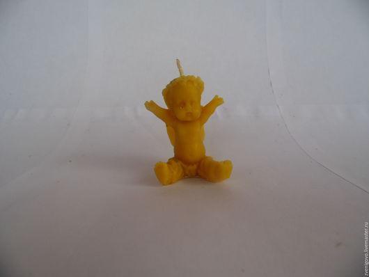 Свечи ручной работы. Ярмарка Мастеров - ручная работа. Купить свеча( ангелочек) - 2. Handmade. Желтый, свеча из воска