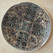 Посуда handmade. Livemaster - original item EAST 1 ceramic plate. Handmade.