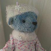 Куклы и игрушки ручной работы. Ярмарка Мастеров - ручная работа Зимняя мишка тедди с коньками. Handmade.