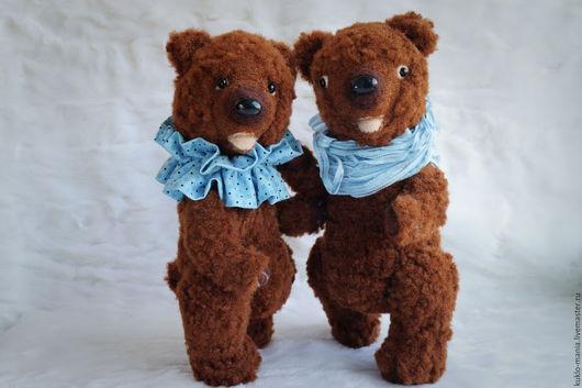 Мишки Тедди ручной работы. Ярмарка Мастеров - ручная работа. Купить Медведь игрушка Пара мишек. Handmade. Коричневый, teddy