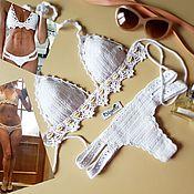 Одежда ручной работы. Ярмарка Мастеров - ручная работа Идеальный вязаный купальник. Handmade.