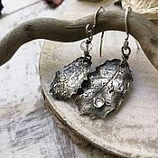 Украшения handmade. Livemaster - original item Silver Holly leaf earrings. Handmade.
