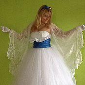 Свадебный салон ручной работы. Ярмарка Мастеров - ручная работа Свадебная шаль с пайетками Ландыши. Handmade.