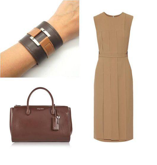 Пример объединения цветов одежды и аксессуаров в нашем браслете.