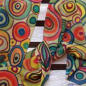 """Аксессуары ручной работы. Ярмарка Мастеров - ручная работа Батик  Шарф  """"Радость"""". Handmade."""