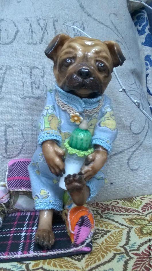 Куклы и игрушки ручной работы. Ярмарка Мастеров - ручная работа. Купить Мопсик Ваня. Handmade. Бежевый, мопсик, подарок, животные