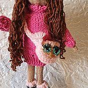 Портретная кукла ручной работы. Ярмарка Мастеров - ручная работа Кукла в розовом. Handmade.