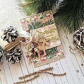 Открытки handmade. Livemaster - original item Christmas card with bells. Handmade.