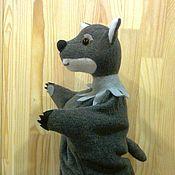 Куклы и игрушки ручной работы. Ярмарка Мастеров - ручная работа Волк перчаточная кукла для домашнего кукольного театра.. Handmade.