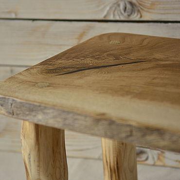 Мебель ручной работы. Ярмарка Мастеров - ручная работа Табурет из дуба с ножками из вяза. Handmade.
