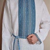 Русский стиль ручной работы. Ярмарка Мастеров - ручная работа Рубаха льняная.. Handmade.