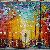 """Картины и панно ручной работы. Ярмарка Мастеров - ручная работа Картина 2Ночная аллея"""". Handmade."""