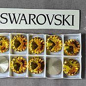 Материалы для творчества handmade. Livemaster - original item 1 PCs 12mm Rivoli Sunflower 292 Swarovski Rivoli Swarovski. Handmade.