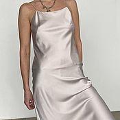 Одежда handmade. Livemaster - original item Combination dress with thin straps made of viscose silk Still. Handmade.