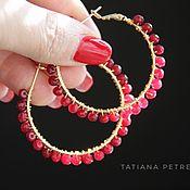 Украшения handmade. Livemaster - original item Ruby ring earrings ruby, amethyst, Goldfield 24K.. Handmade.