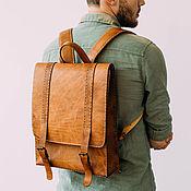 Сумки и аксессуары handmade. Livemaster - original item Backpack leather men`s. Handmade.