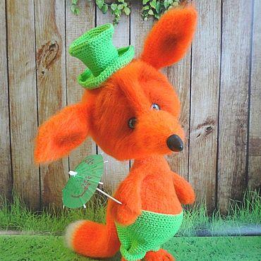 Куклы и игрушки ручной работы. Ярмарка Мастеров - ручная работа Лис в шляпе. Handmade.