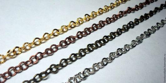 Для украшений ручной работы. Ярмарка Мастеров - ручная работа. Купить Цепочка якорного плетения (2 простых и 2 рефленых кольца). Handmade.