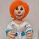 """Человечки ручной работы. Заказать Кукла """"Мед сестричка......медсестра"""" (№3) Скульптурный текстиль. mastersofi  (Любовь). Ярмарка Мастеров."""