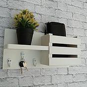 Для дома и интерьера handmade. Livemaster - original item Wall-mounted housekeeper made of natural wood. Handmade.