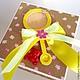 """Конверты для денег ручной работы. Коробочка для денежного подарка на рождение девочки """"Magicbox"""". T-fantasy. Ярмарка Мастеров. Оранжевый цвет"""