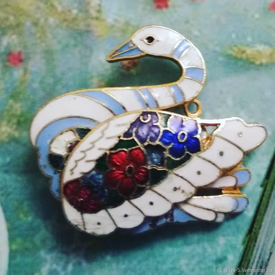 Swan brooch, Vintage brooches, Vladimir,  Фото №1