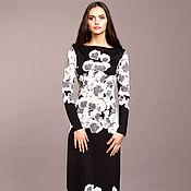Одежда ручной работы. Ярмарка Мастеров - ручная работа Длинное прямое черное платье, красивое нарядное платье макси. Handmade.