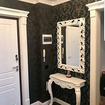 Для дома и интерьера ручной работы. Ярмарка Мастеров - ручная работа Зеркало настенное в резной раме. Handmade.