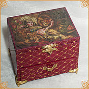 "Подарки к праздникам handmade. Livemaster - original item Casket chest of drawers ""The Tamed Lion"". Handmade."