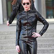 Одежда handmade. Livemaster - original item Black Leather Jacket. Handmade.