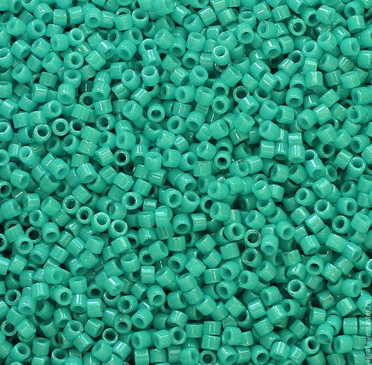 Для украшений ручной работы. Ярмарка Мастеров - ручная работа. Купить Delica DB-658 Dyed Op Turquoise Green  японский бисер делика Миюки. Handmade.